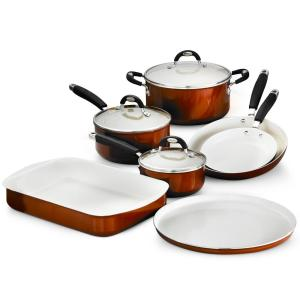 Tramontina Style Ceramica 10-Piece Metallic Copper Cookware Set with Lids by Tramontina