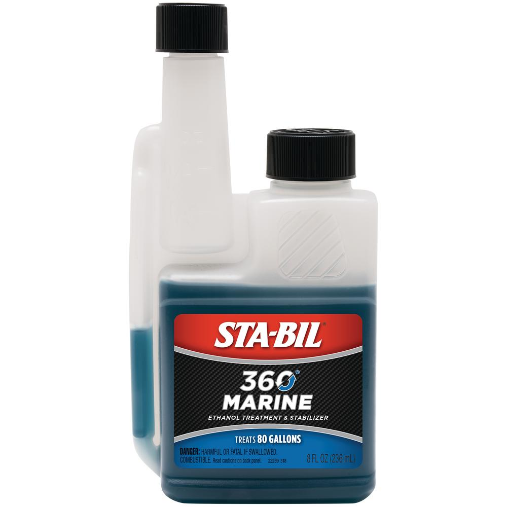 Sta-Bil STA-BIL 360 Marine Ethanol Treatment and Fuel Stabilizer 8 oz. Treats 80 Gallons of Fuel