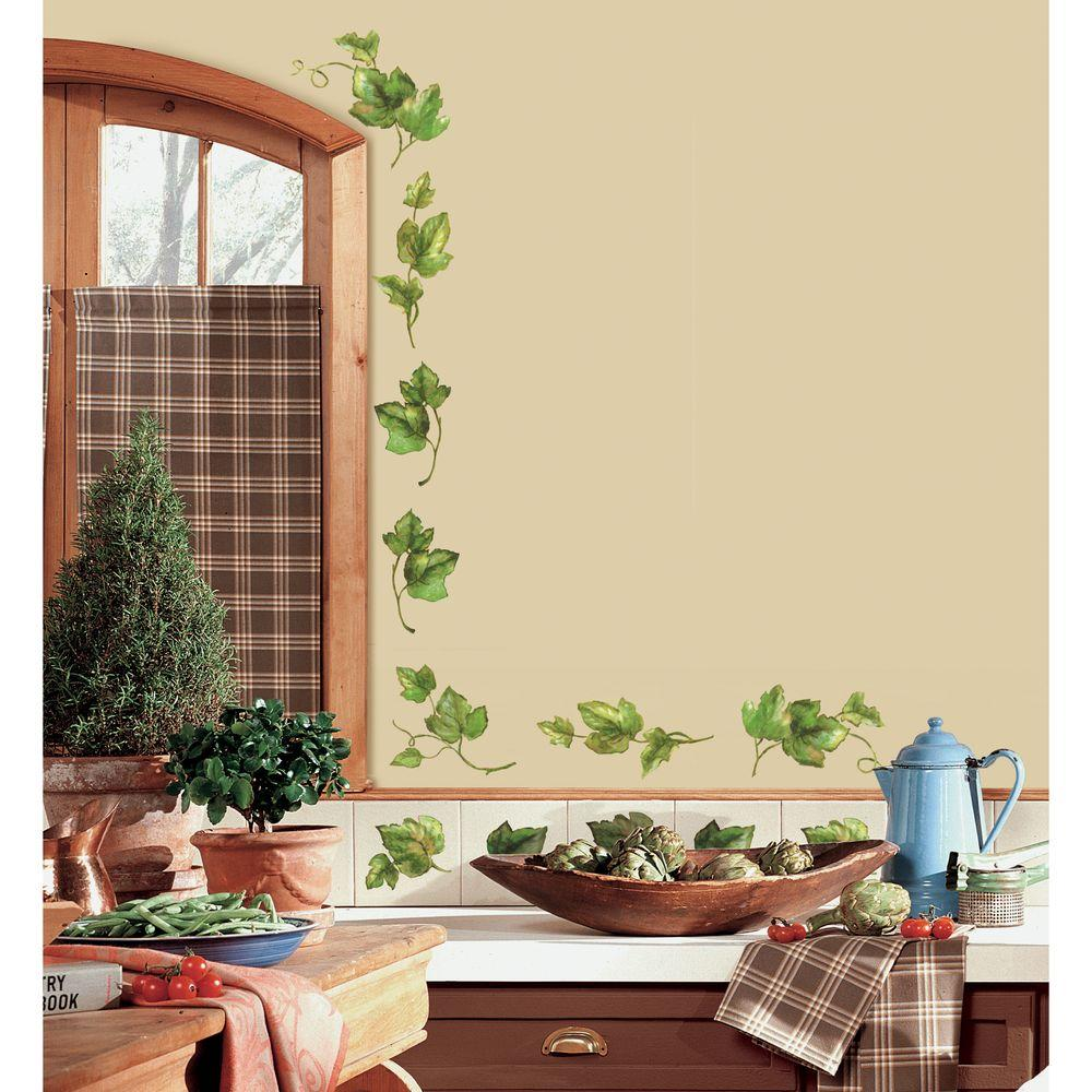 18 in. x 40 in. Evergreen Ivy 38-Piece Peel and Stick