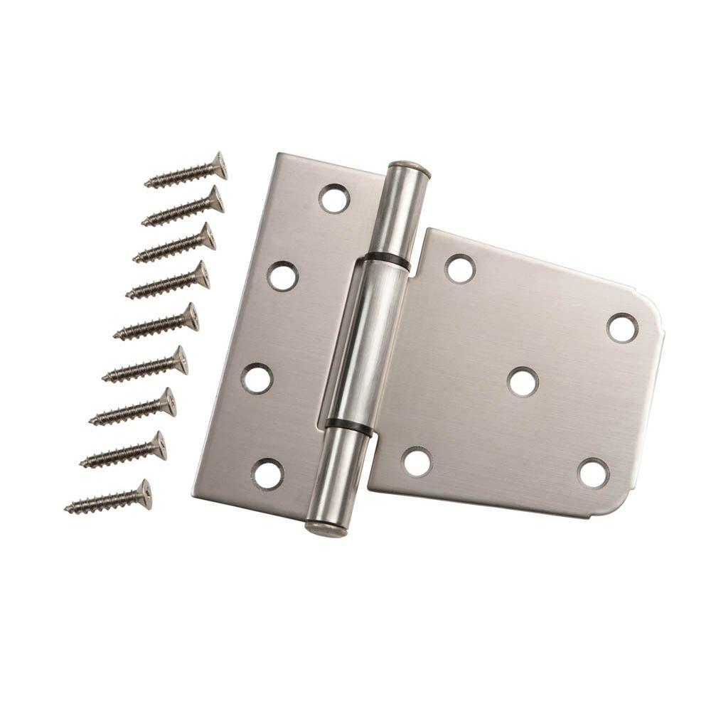 Everbilt 3 1 2 In Stainless Steel Heavy Duty Tee Hinge