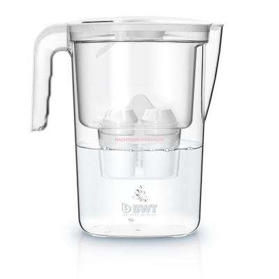 BWT 6 Cup Mg2+ Water Filter Pitcher Vida White with Timer