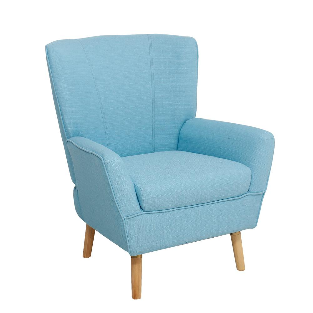 Ebello Turquoise Blue Kitling Arm Chair C5015ac1 The