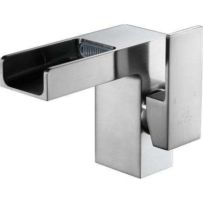 Zhona Series Single Hole Single-Handle Low-Arc Bathroom Faucet in Brushed Nickel