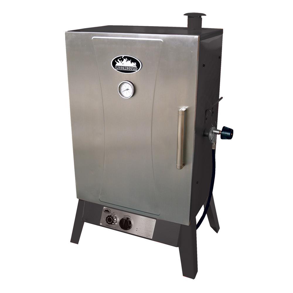 Wide Gas Smoker Cooker