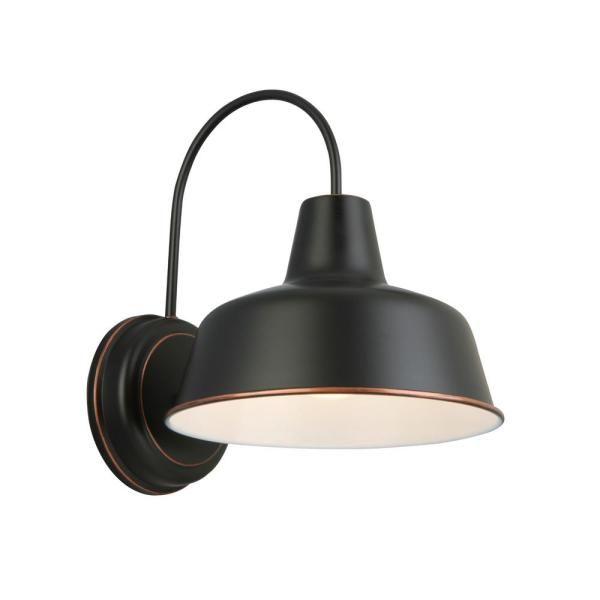 Mason 1-Light Oil Rubbed Bronze Outdoor Wall Barn Light Sconce