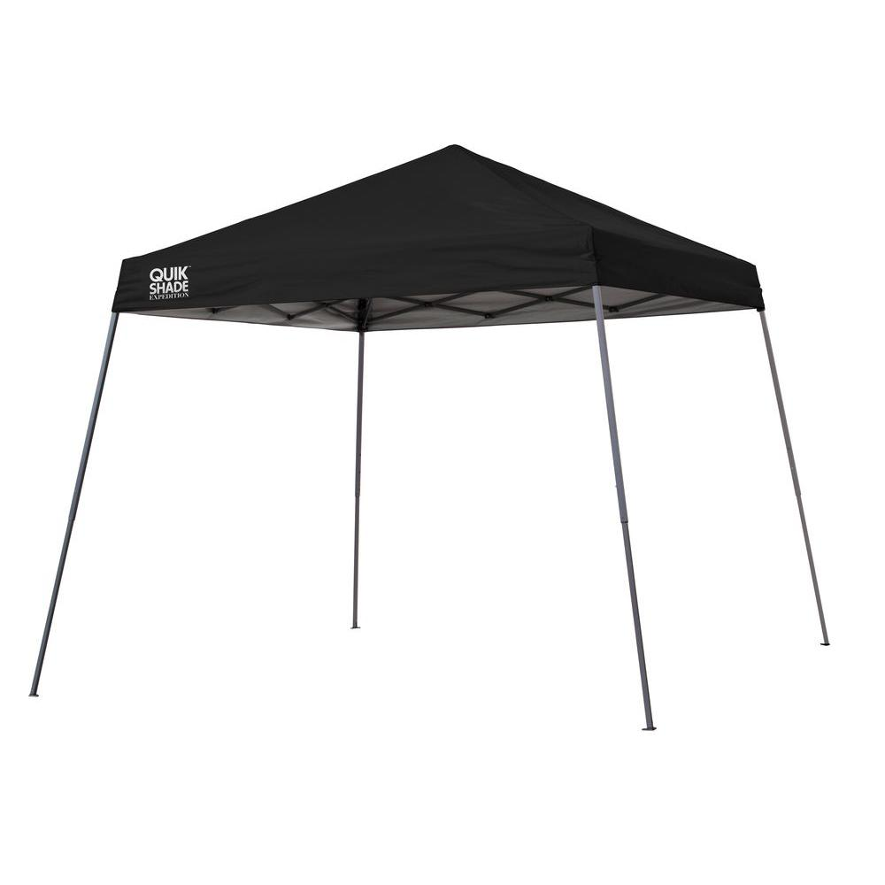 Expedition Team Colors 10 ft. x 10 ft. Black Slant Leg  sc 1 st  The Home Depot & Quik Shade 6 ft. x 6 ft. Blue Go Hybrid Compact Backpack Canopy ...