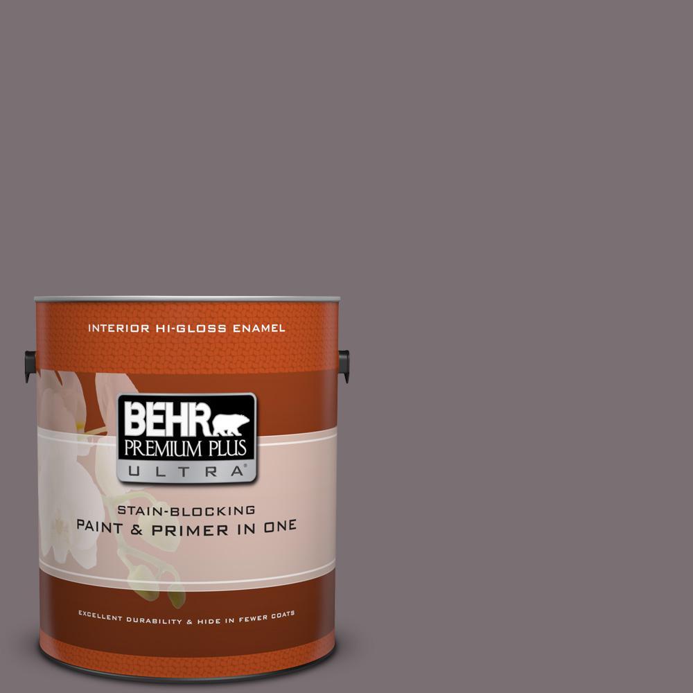 1 gal. #HDC-AC-27 Heather Sachet Hi-Gloss Enamel Interior Paint