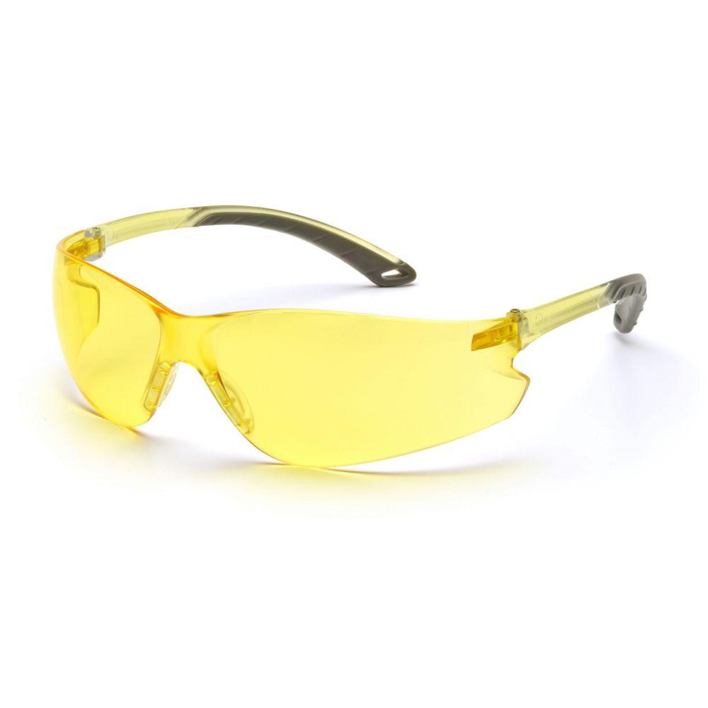 null Itek Amber Temples Amber Lens Safety Glasses-DISCONTINUED