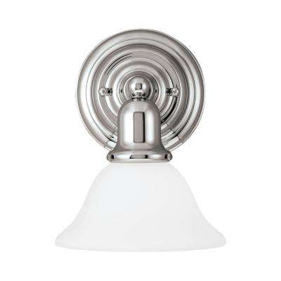Sussex 1-Light Chrome Sconce with LED Bulb
