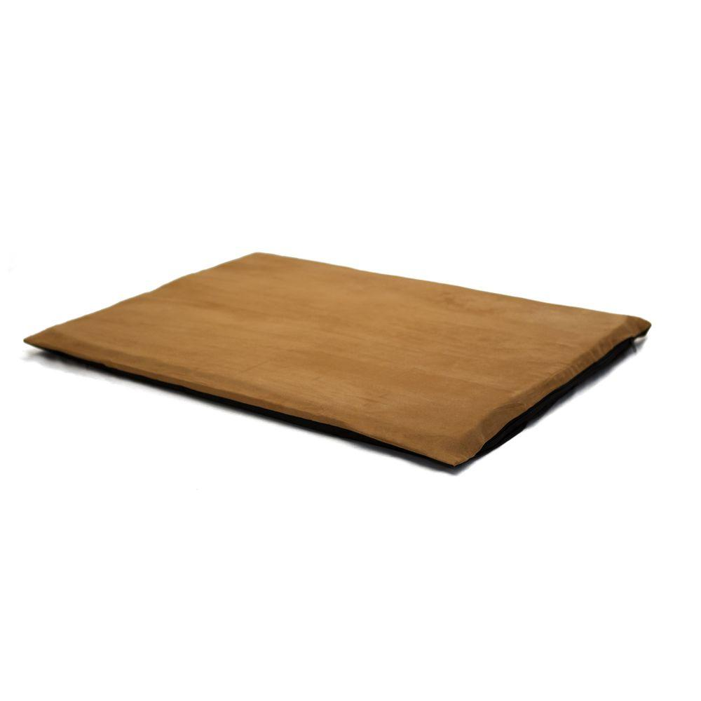 2 in. Large Suede Camel Orthopedic Foam Pet Bed