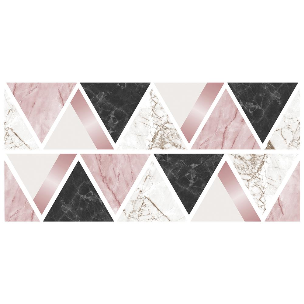 Fun4walls Rose Gold Marble Triangles Wall Sticker Wall Decals Set
