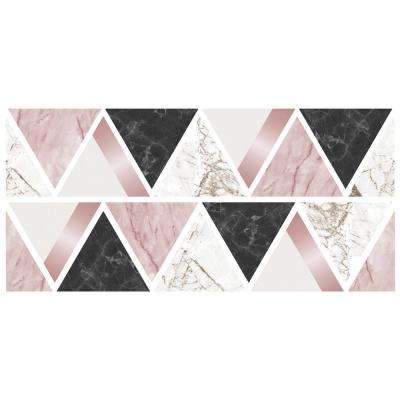 Rose Gold Marble Triangles Wall Sticker Wall Decals (Set of 2)
