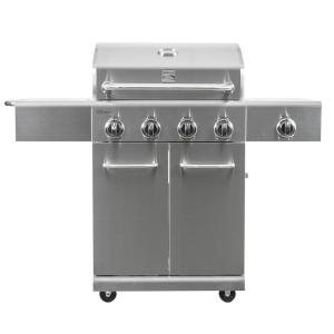 Click here to buy KENMORE 4 Burner Propane Gas Grill in Stainless Steel with Side Burner by KENMORE.