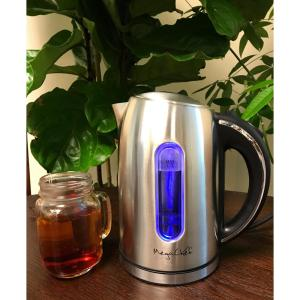 MegaChef 1.7 l Stainless Steel Electric Tea Kettle by MegaChef