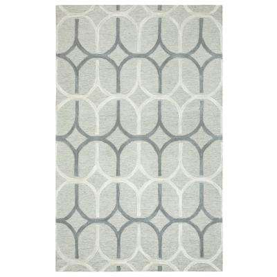 Caterine Gray 8 ft. x 10 ft. Rectangle Area Rug