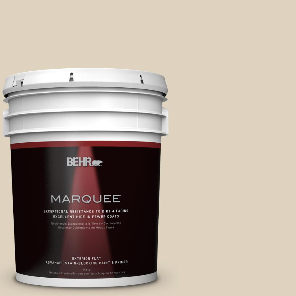BEHR MARQUEE 5-gal. #PPU4-12 Natural Almond Flat Exterior Paint