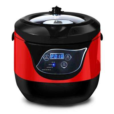 5.5 Qt. Smart and Healthy Sub-Boiling Red Low Pressure Cooker