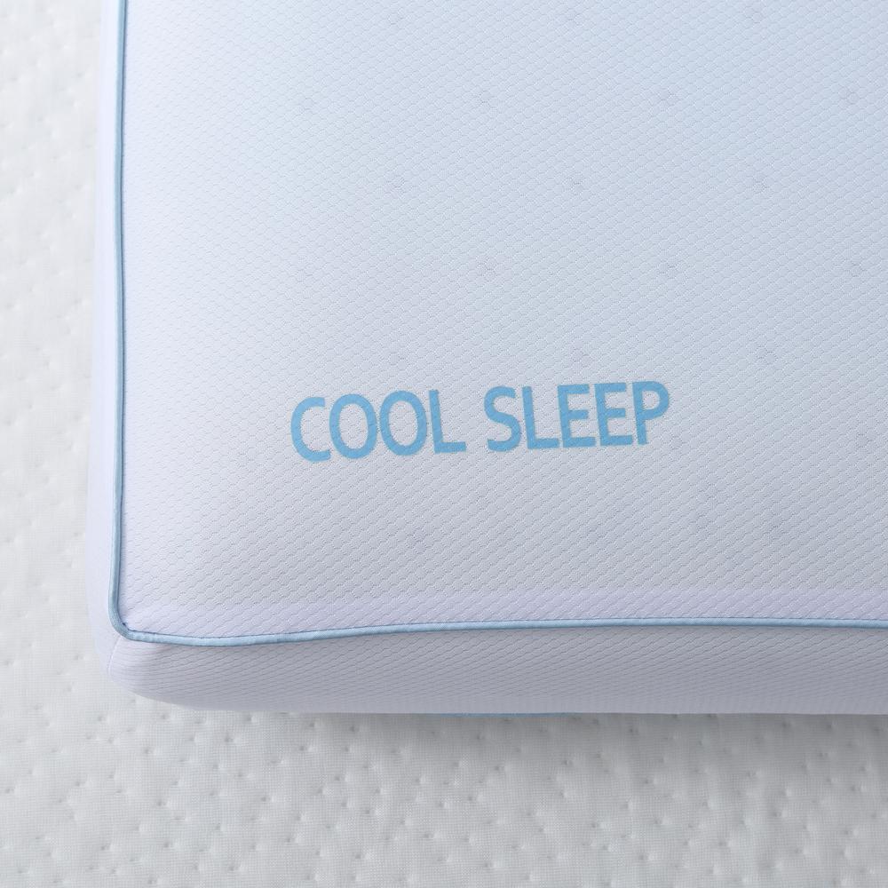 Cool Sleep Queen-Size Ventilated Gel Memory Foam Bed Pillow