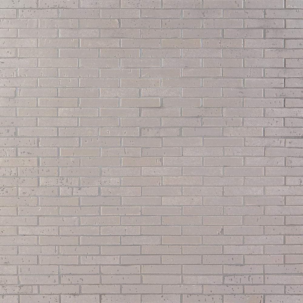 Ivy Hill Tile Queen Brick Gray 10.6 in. x 12.75 in. 12mm Matte Clay Mosaic Wall Tile (0.94 sq. ft.)