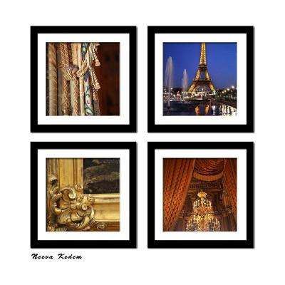 "Four 10 in. x 10 in. ""Romance in Paris"" by Neeva Kedem Framed Printed Wall Art"
