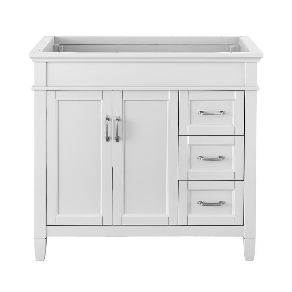 Foremost Ashburn 36 In W X In D Vanity Cabinet In White Aswa3621dr The Home Depot