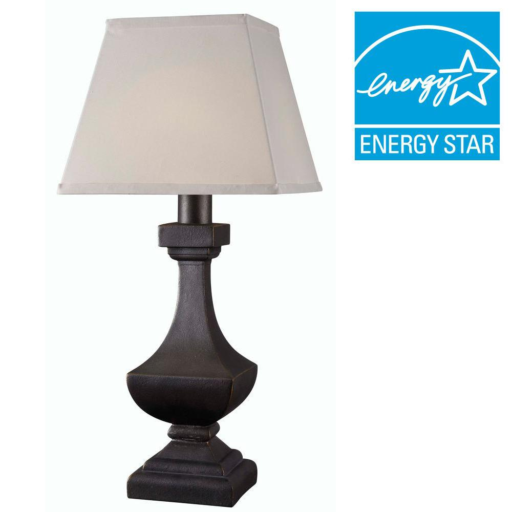 Bronze Outdoor LED Solar Table Lamp