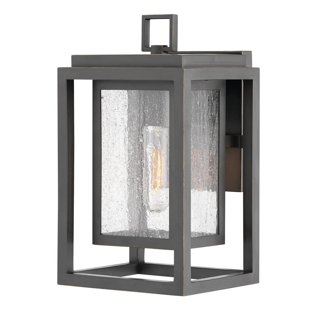 hot sale online bcb15 1f59d Hinkley Lighting Republic Small 1-Light Oil Rubbed Bronze Outdoor Wall  Lantern