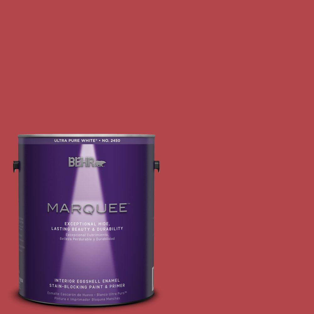 1-gal. #HDC-SM14-10 Intrigue Red Eggshell Enamel Interior Paint