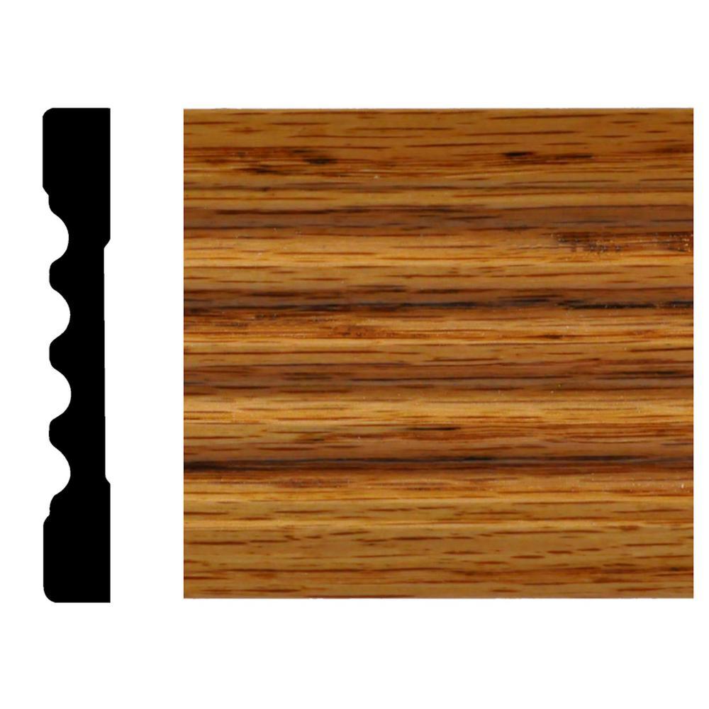 9588GO 7/16 in. x 3 in. x 7 ft. Oak Fluted Casing Honey Oak Stain Moulding