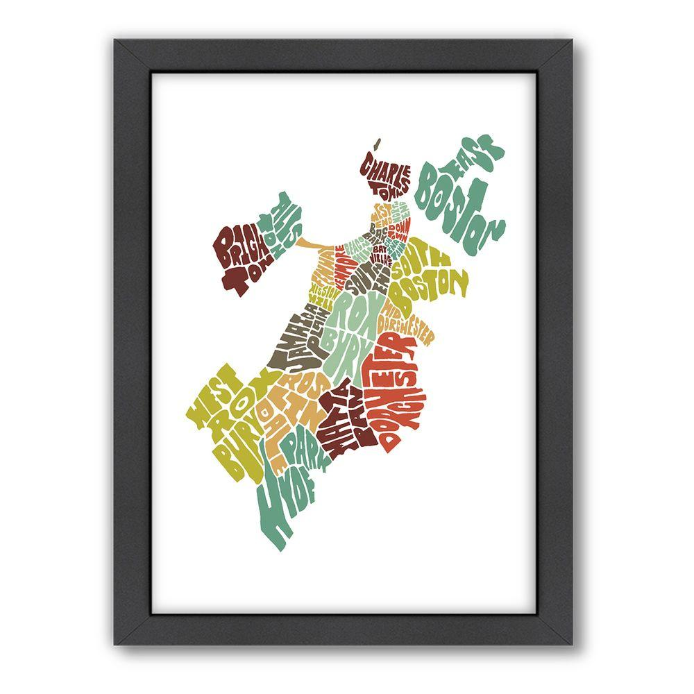 "Americanflat 27 in. x 21 in. ""Boston Color"" by Joe Brewton Framed Wall Art"