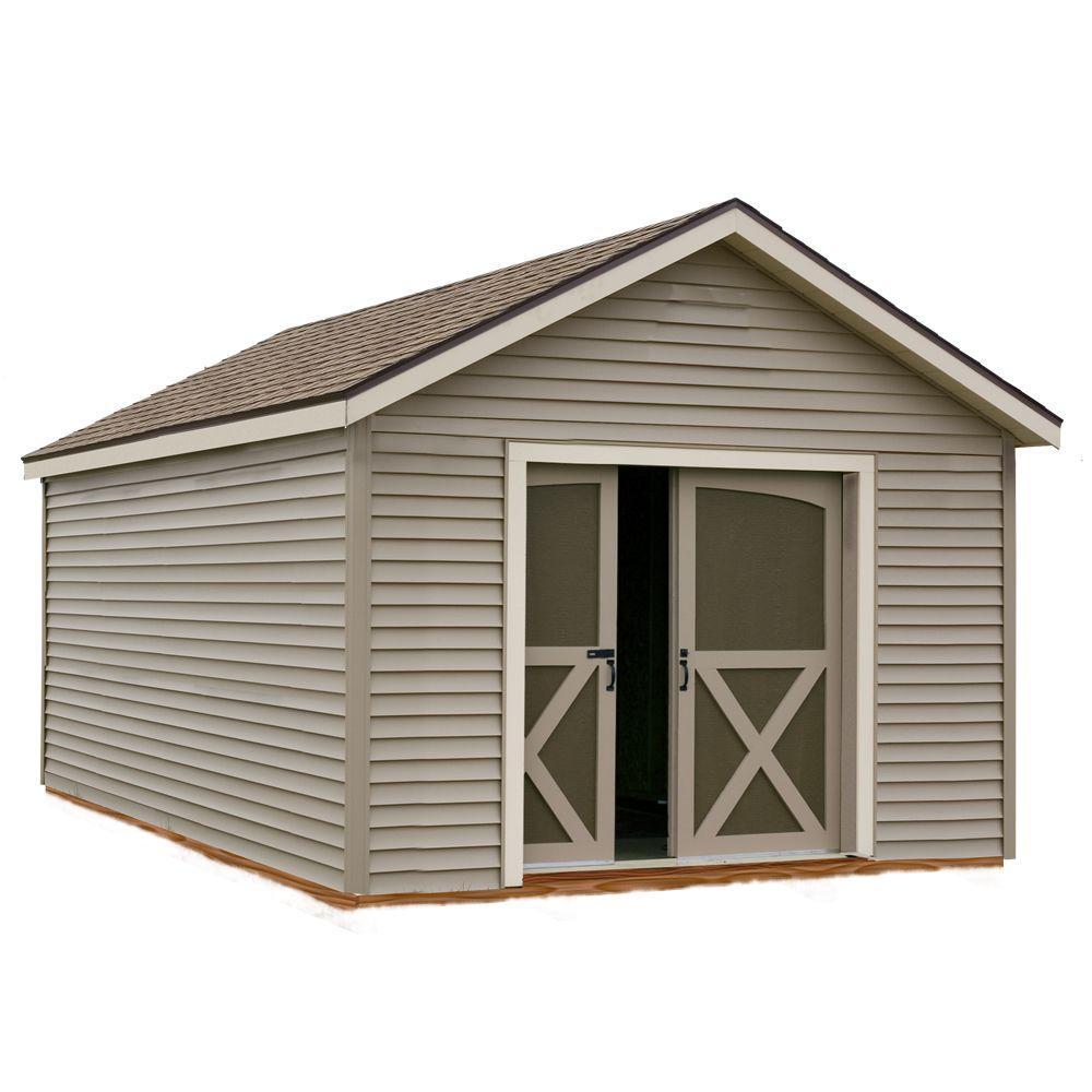 Best Barns South Dakota 12 ft. x 16 ft. Prepped for Vinyl Storage Shed Kit with Floor