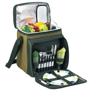 Eco Collection Picnic Basket and Cooler Equipped for 2 by