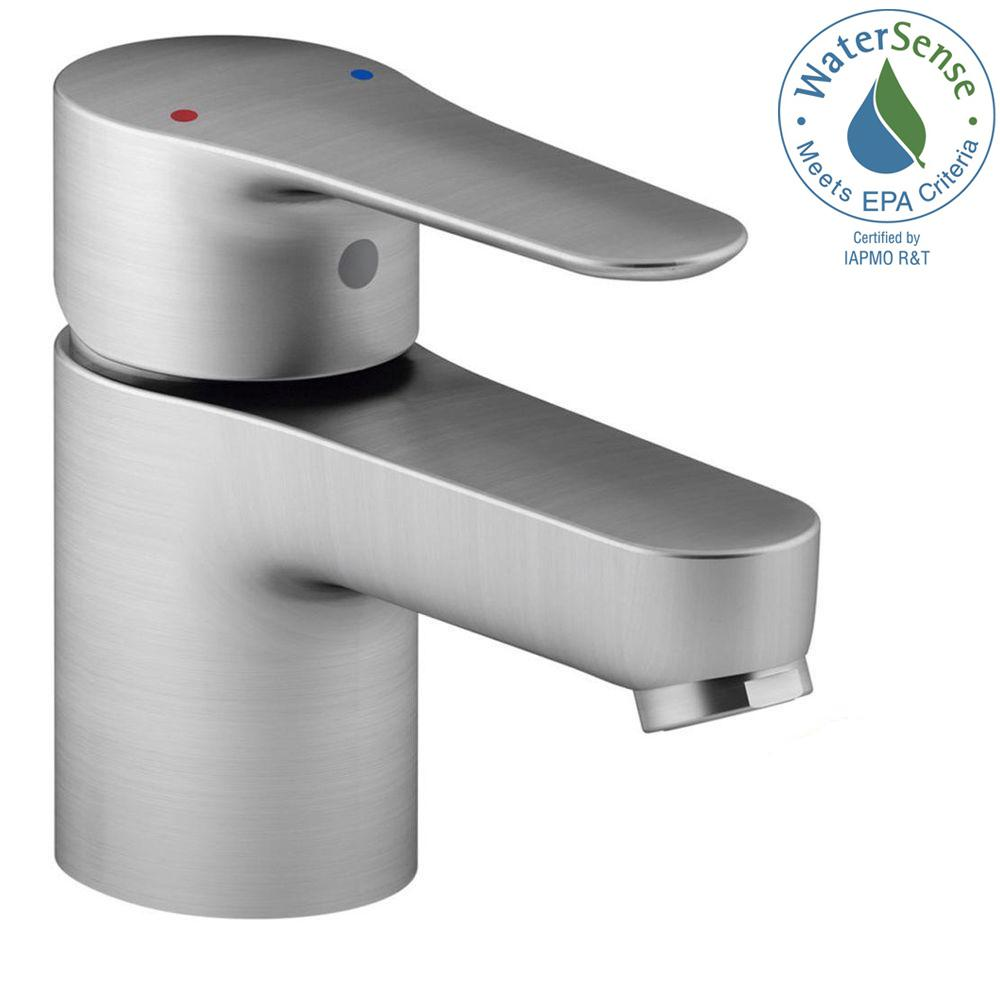 July Single Hole Single Handle Low Arc Bathroom Faucet in Brushed