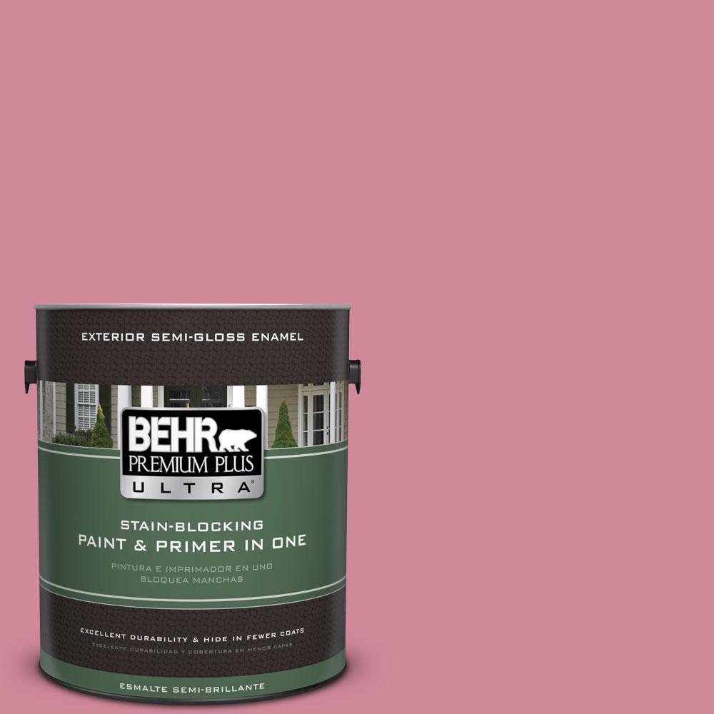 BEHR Premium Plus Ultra 1-gal. #M140-4 Fruit Cocktail Semi-Gloss Enamel Exterior Paint