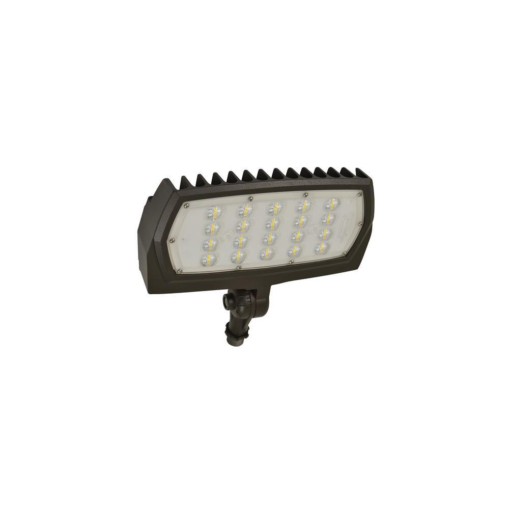 28-Watt Bronze Outdoor Integrated LED Flood Light