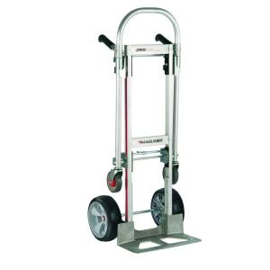 capacity gemini jr convertible aluminum modular hand truck with foam wheels