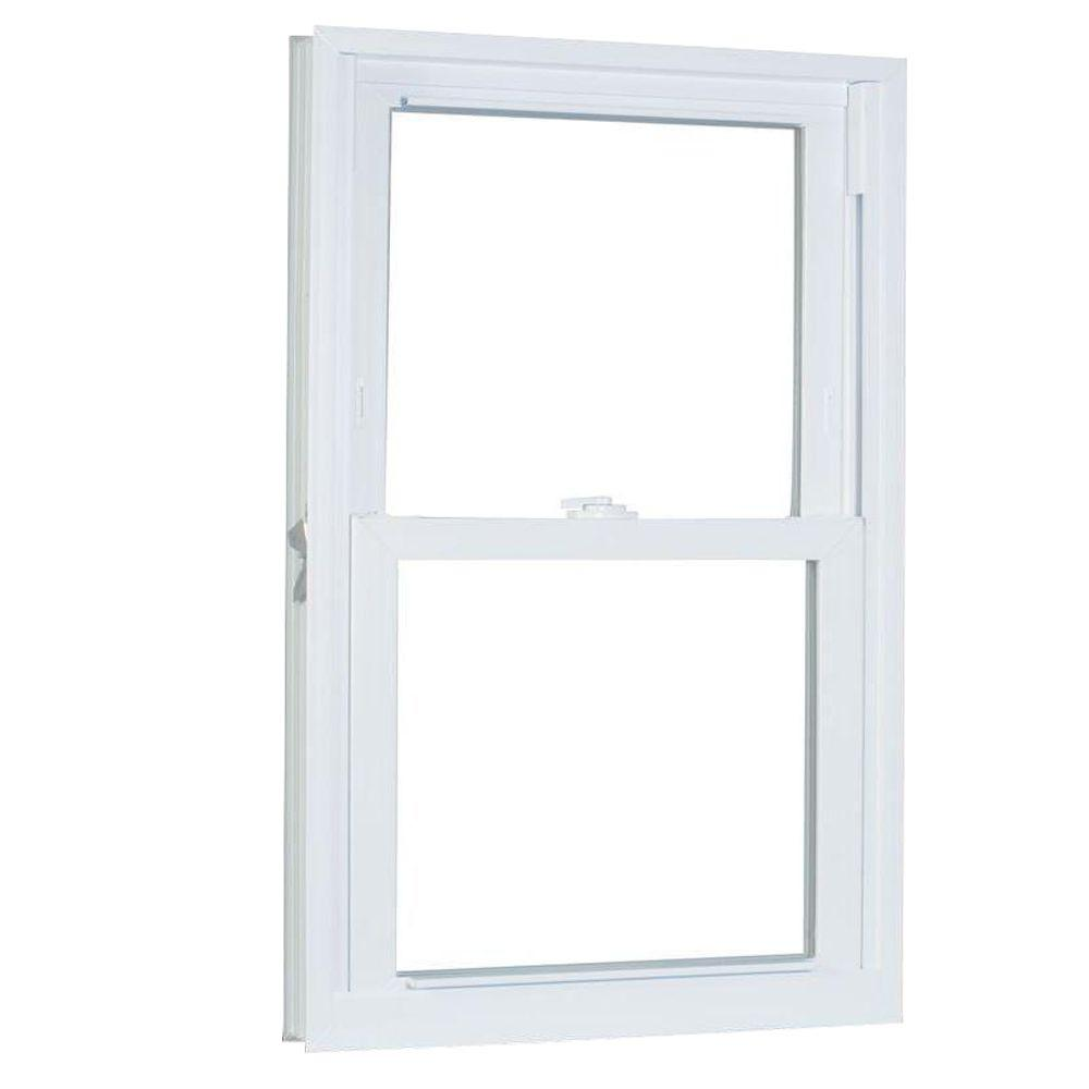 23.75 in. x 45.25 in. 70 Series Pro Double Hung White