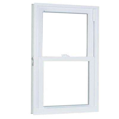 23.75 in. x 45.25 in. 70 Series Pro Double Hung White Vinyl Window with Buck Frame