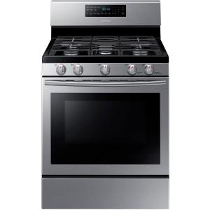 gas stove. Gas Range With Self-Cleaning And Fan Convection Oven In Stainless Steel-NX58H5600SS - The Home Depot Stove
