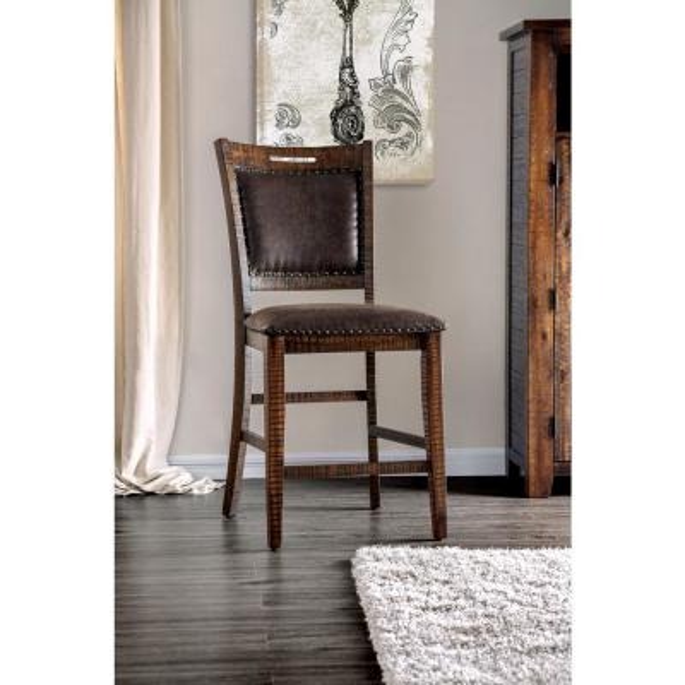 Crandallton Light Walnut Upholstered Counter Height Dining Chairs (Set of 2)