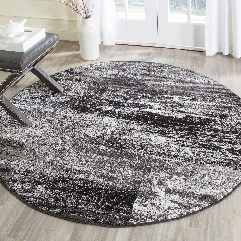 Safavieh Adirondack Silver Black 6 Ft X 9 Ft Area Rug Adr112a 6