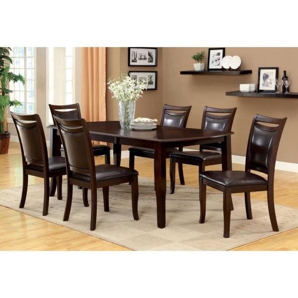 Remarkable Woodside Dark Cherry And Espresso Transitional Style Dining Table Home Remodeling Inspirations Genioncuboardxyz