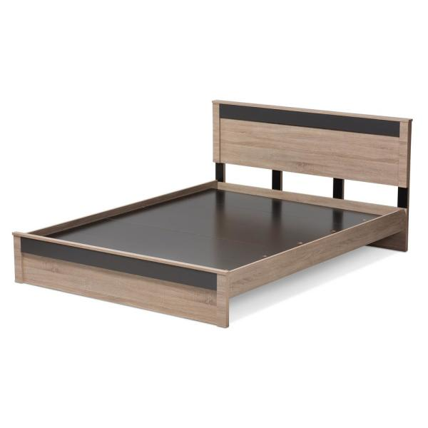 Baxton Studio Jamie Light Brown Wood Queen Platform Bed 28862 7709