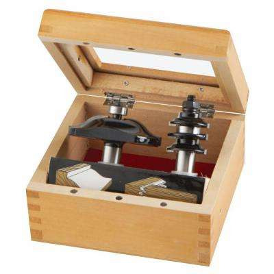 1/2 in. Carbide Ogee Stile and Rail Router Bit Set (2-Piece)
