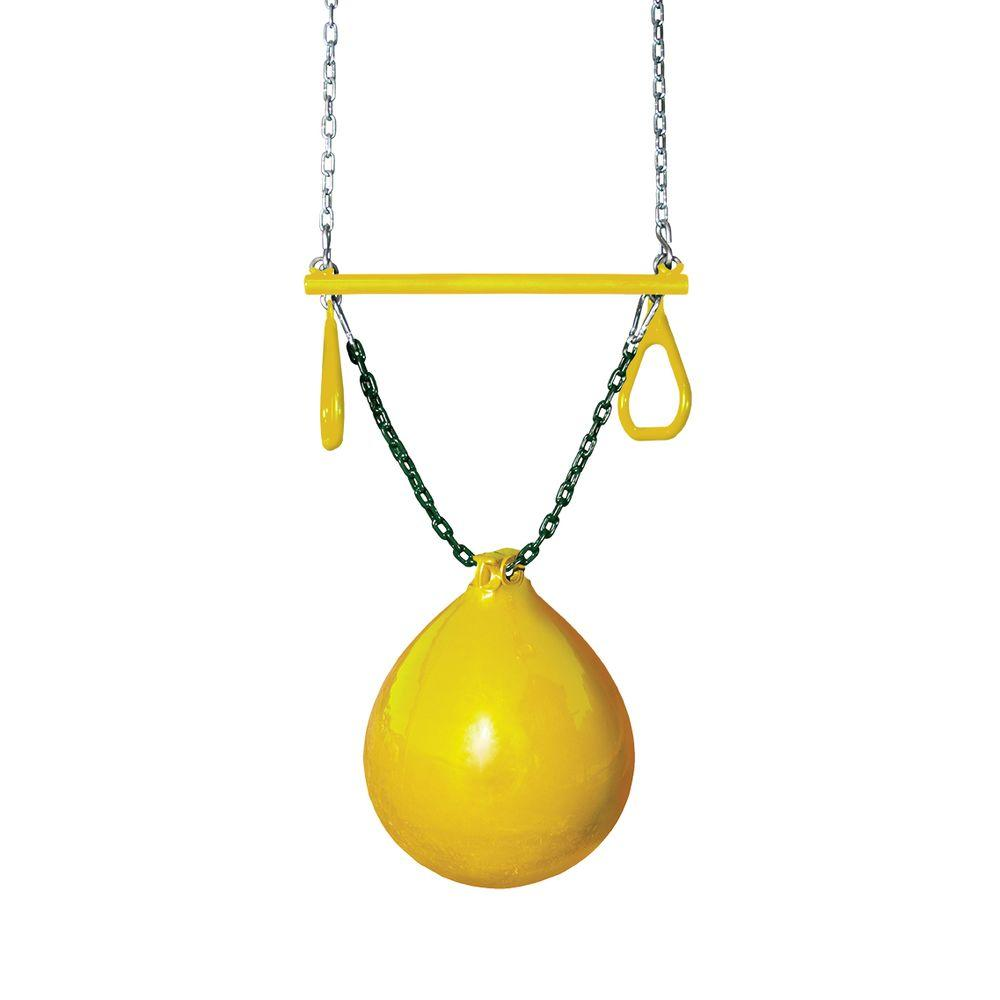 Gorilla Playsets Yellow Buoy Ball with Trapeze Bar