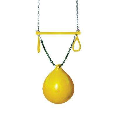 Yellow Buoy Ball with Trapeze Bar