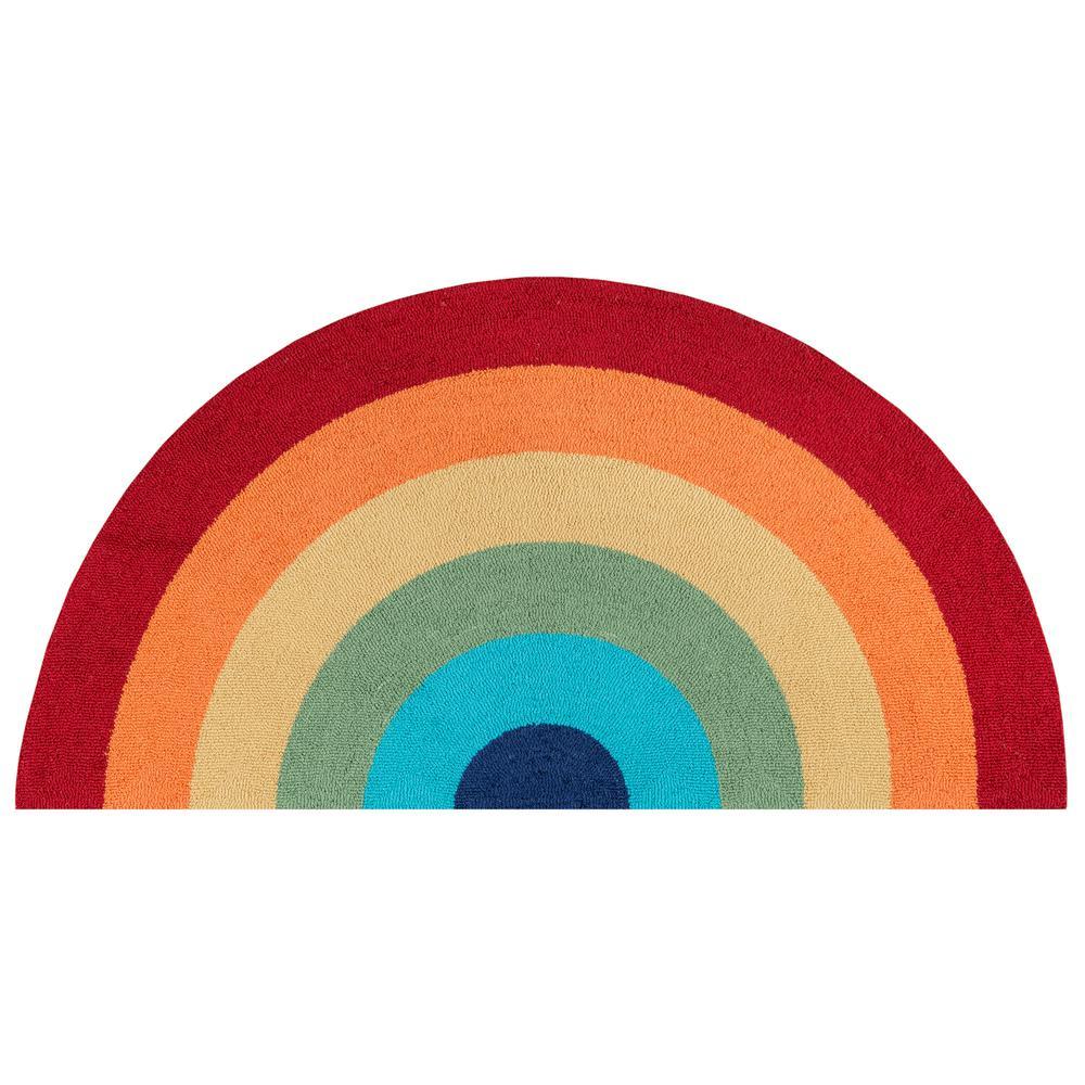 Cucina Rainbow Multi 2 ft. 6 in. x 5 ft. Kitchen Mat