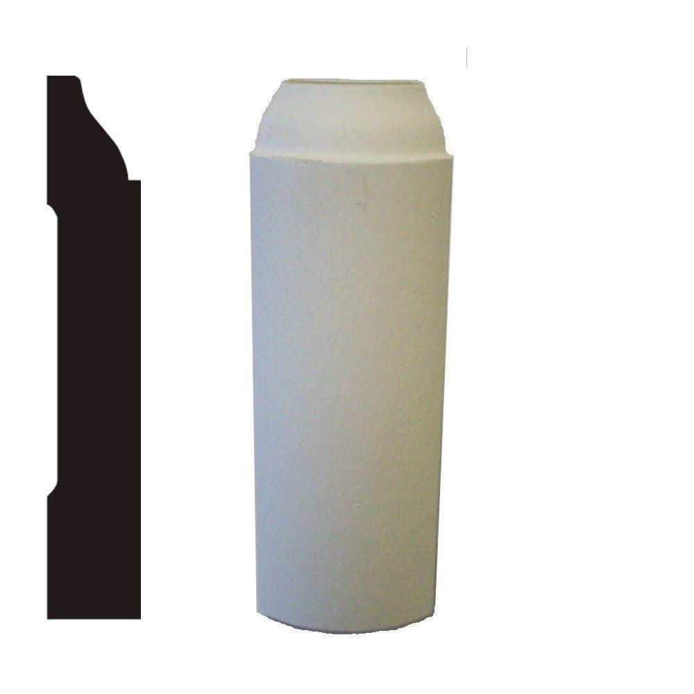 LWM 623 1/2 in  x 1-3/4 in  x 5-1/4 in  MDF Primed Radius Base