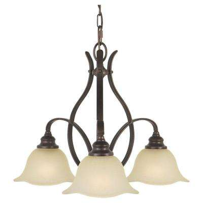 Morningside 3-Light Grecian Bronze Chandelier Shade