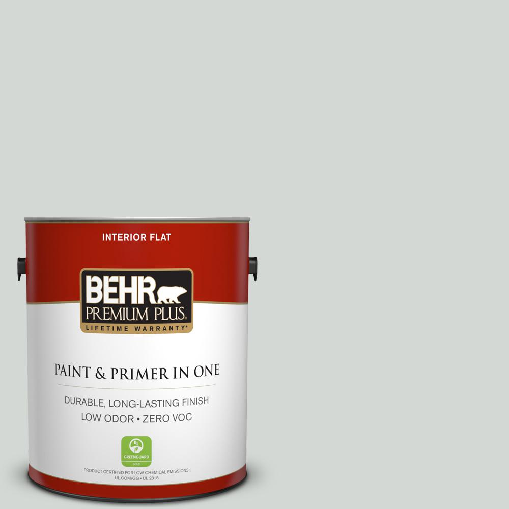 1 gal. #PPU25-13 Misty Coast Zero VOC Flat Interior Paint